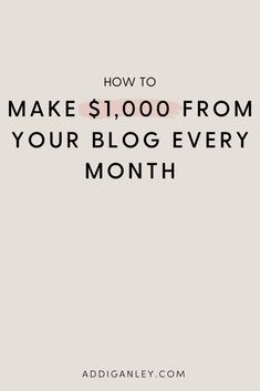Marketing Tactics, Business Marketing, Business Tips, Online Business, Make Money Blogging, Make Money Online, How To Make Money, Every Month, Write It Down