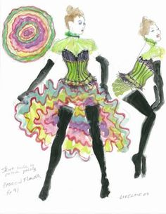 Moulin Rouge: The Ballet The cancan en pointe is something to see from the Royal Winnipeg Ballet. Costume Design Sketch, Saloon Girls, Paris At Night, Ballet Class, Frou Frou, Colorful Paintings, Le Moulin, Costume Makeup, I Fall In Love