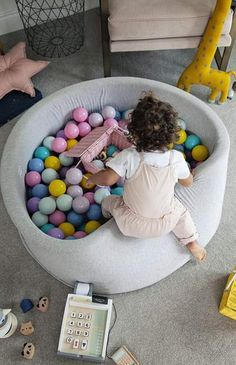 Mini Be is Exclusive to The Modern Nursery in the UK. Endless fun with the highest quality, modern and unique ball pits on the market, comes with 200 balls! Contemporary Nursery Decor, Nursery Modern, Image Ball, Playroom Storage, Playroom Ideas, Nursery Ideas, Pregnancy Pillow, Latest Colour, Ball Pits