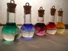 Miniature Glass Potion Bottles