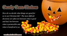 Candy corn is the top-selling Halloween candy and the most talked about candy during Halloween, but it is also talked about as the worst candy for you. Candy Corn isn't real corn. It is almost pure sugar – a sweet imitation of the real thing which isn't good for us in any way. So it's good, but it's bad.