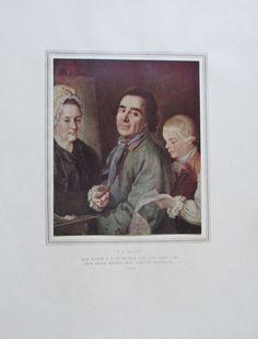 DROSHDIN DER MALER ANTROPOW Reproduktion Staatliche Russische Museum 1952