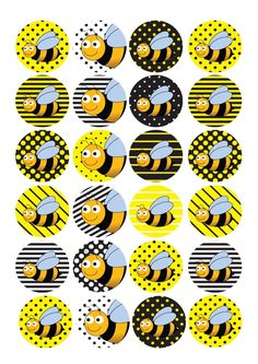 24 Edible Cake Toppers Decorations Bumblebee Bee Insect Baby Bumble