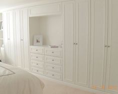 Built-in drawers, closets - this would be great for the long basement bedroom wall: