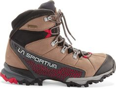 With Gore-Tex® Surround Technology for optimum breathability on light-and-fast adventures, the La Sportiva Nucleo High GTX women's hiking boots offer all-day comfort, stability and traction. Available at REI, 100% Satisfaction Guaranteed.
