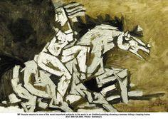 M F Husain- Leaping-Horse