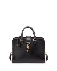 Monogramme Mini Zip-Around Satchel Bag, Black by Saint Laurent at Bergdorf Goodman. Ysl Bag, Clutch Bag, Satchel Bag, Cute Handbags, Black Handbags, Saint Laurent Handbags, Bag Sale, Fashion Handbags, 5 D