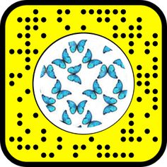 Snap to Unlock! Snapchat Filter Codes, Snapchat Usernames, Blue Butterfly, Lenses, Coding, Dress, Dresses, Lentils, Vestidos