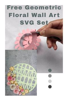 paper flower making, cricut paper project, diy decor ideas Rolled Paper Flowers, How To Make Paper Flowers, Giant Paper Flowers, Geometric Wall Art, Floral Wall Art, Paper Vase, Diy Paper, Paper Flower Arrangements, Paper Flower Wall