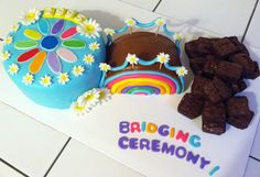Girl Scouts Daisy troop bridging to a Brownie Cakes by Aunt Bet on Facebook