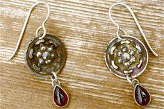 Compass Garnet Earrings