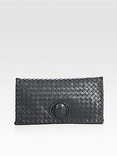 All about the #clutch - Bottega Veneta Small Woven Leather Clutch #bottegaveneta