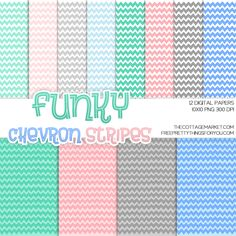 Funky Chevron Stripes Digital Paper Pack Part 1 - The Cottage Market