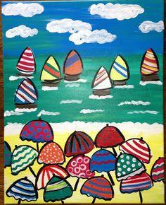 sailboats and umbrellas