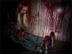 halloween haunted house ideas   CHAINED CHELSEA Haunted House Animatronic