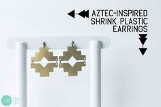 DIY Aztec-Inspired Earrings @ mintedstrawberry.blogspot.com
