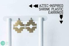 DIY Aztec-Inspired Earrings @ mintedstrawberry.blogspot.com