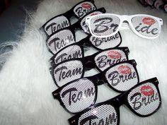 7 pair Team Bride Bride CLEAR glasses Wedding Bachelorette Party Favor on Etsy, $38.43