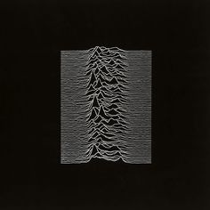 designer Peter Saville crafted the album cover for Joy Division's Unknown Pleasures. In video interview talks about creating the album cover, lifting the image verbatim from a science book depicting the very first reading of a pulsar from 1967.