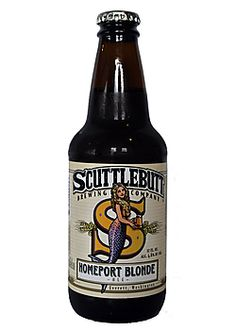 Scuttlebutt Homeport BlondeCrisp, Citrusy, Refreshing, Light-bodiedWashington- American Blonde Ale- Golden blonde color with a thick white head. Nugget and Tettnanger hops provide citrusy aromas including lemon essences. Aromas carry to the flavors for a nice refreshing character.
