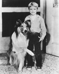 Lassie -- I was glued to the TV every Sunday night to watch Timmy and Lassie!  At the end of each show when they showed Lassie during the closing theme song, I would always start crying when Lassie raised her paw.  My brothers STILL won't let me forget that!