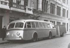 Trolebus MAN-AEG CON REMOLQUE de los años 50, DE  la línea  CORUÑA-CARBALLO.