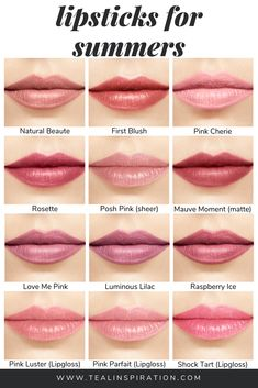 Make-up für den Sommer In my opinion, wearing makeup colors that make the most of your natural coloring is the most important thing when wearing makeup. Lipstick Shades, Lipstick Colors, Makeup Lipstick, Lip Colors, Natural Lipstick Color, Colours, Eyebrow Makeup, Lipsticks, Makeup Art