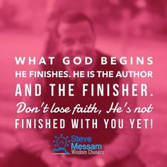 Sometimes God interrupts our plans. Don't get irritated get excited! He's not finished with you yet! #thefinisher #workinprogress