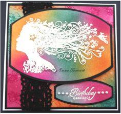 Indigoblu stamps and tim holtz distress inks birthday card