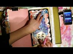 I just love jennibellie!! Another great video...she makes it look so easy.  A Quick Lil Art Journal Page - 15 Minute Real-time Process