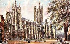 Canterbury England UK 1907 Canterbury Cathedral Tuck Antique Vintage Postcard