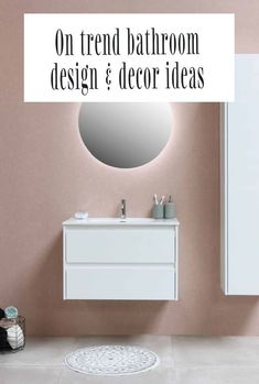 A look at some lovely design and decor trends in bathroom and what is hot right now. From pinks to eco-firendly bathroom s even botanical bathrooms - find out what accessories and paint your bathroom needs! #bathroom #bathroomdesign #bathroomdecor #bathroommakeover New Bathroom Designs, Bathroom Trends, Bathroom Interior, Beautiful Space, Beautiful Homes, Botanical Bathroom, Beautiful Bathrooms, Simple House, Decor Ideas