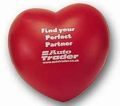 #PROMOTIONAL GIFT - HEART STRESS ITEM Printed 1 Colour, 1 Position. Various Colours Available