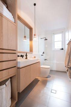 Muebles de madera para baños - Hints for Women Minimalist Bathroom Design, Modern Bathroom Design, Bathroom Interior Design, Contemporary Bathrooms, Minimalist Bathroom Furniture, Scandinavian Bathroom Design Ideas, Kitchen Design, Modern Bathroom Lighting, Contemporary Furniture