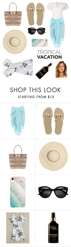"""""""Vacation"""" by d5sand ❤ liked on Polyvore featuring Lisa Marie Fernandez, Melissa Odabash, Havaianas, Gray Malin and Bondi Sands"""