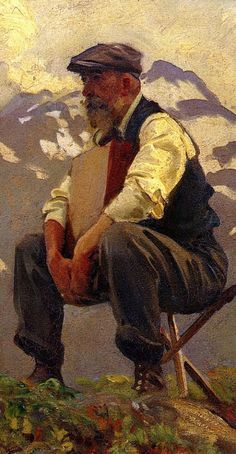 """""""Reconnoitering"""" - John Singer Sargent (Anglo-American, oil on canvas, 1911 {Renaissance classical elderly male seated bearded man cropped painting detail Patient ! (this in a cropped detail) John Singer Sargent, Sargent Art, Figure Painting, Painting & Drawing, Beaux Arts Paris, Famous Artists, Oeuvre D'art, American Artists, Figurative Art"""