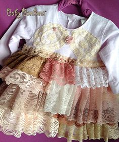 Vintage ruffled lace flower girl, birthday party, baptism, pageant knit blush, shabby chic dress by rosanna hope for babybonbons