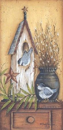 Nest For Two Country Bird Picture by artist Mary Ann June