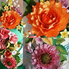 Flores en Paste de Azucar