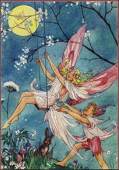 Illustration by Dorothy M. Wheeler to accompany a collection of nursery rhymes and music published in 1916.