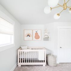 💤 sweet dreams happen here 😴 • #babyletto Modo crib • 📷: nursery designed by mama @mintandpinedesign Baby Room Decor, Nursery Decor, Changing Table Dresser, Nursery Shelves, Scandinavian Nursery, Nursery Design, Nursery Inspiration, Interior Inspiration, Floating Shelves Diy