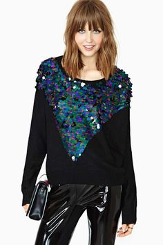 MinkPink Glam Rock Sequin Knit