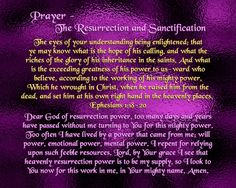 Prayer - The Resurrection and Sanctification