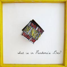 KATNAWLINS SQUARE FUNKY KEEPSAKE #BOX #Etsy #neworleans #katnawlins #art #nola #colorful #chevron $20.00