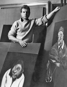 """Francis Bacon by Cecil Beaton bromide print, January 1960 © Cecil Beaton Studio Archive, Sotheby's London National Portrait Gallery """" Francis Bacon """""""