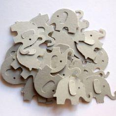 "200 Gray Elephant Confetti, Baby Shower, Elephant Theme, Birthday Party, Table Confetti, Party Decoration, 1"""