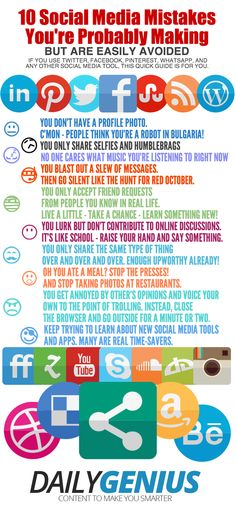 10 Social Media Mistakes You're Probably Making [INFOGRAPHIC]