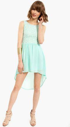 Tobi Green Adora Lace Dress