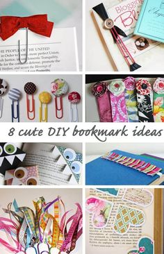 Eight simple DIY bookmarks to make at home. Great to pair with a book as a gift for someone who loves to read!