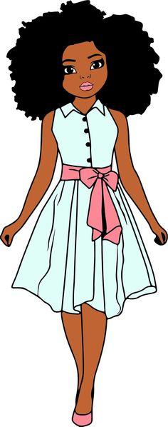 Black Girl Art, Black Women Art, Black Kids, Black Girl Magic, Art Girl, African Art Paintings, Black Cartoon, African American Art, Cute Little Girls